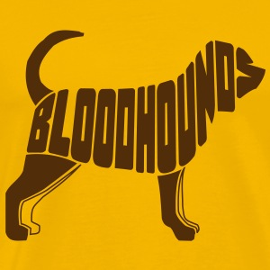 Bloodhound Dog Art T-Shirts - Men's Premium T-Shirt