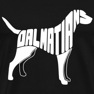 Dalmatian Dog Art T-Shirts - Men's Premium T-Shirt