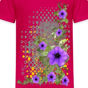 Purple Flowers - Kids' Premium T-Shirt