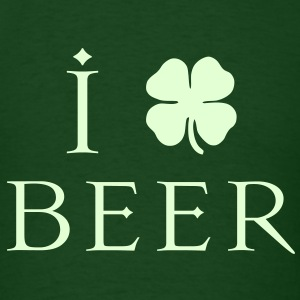 KCCO - I Heart-Love Beer St Patricks T-Shirts - Men's T-Shirt
