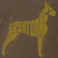 Great Dane Dog Art T-Shirts