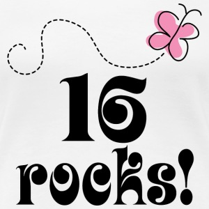 16th Birthday (16 Rocks) T Shirt | Sixteenth Birth - Women's Premium T-Shirt