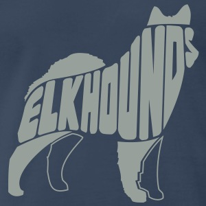 Norwegian Elkhound Dog Art T-Shirts - Men's Premium T-Shirt