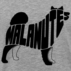Malamute Dog Art T-Shirts - Men's Premium T-Shirt