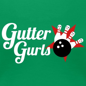bowling team called gutter gurls Women's T-Shirts - Women's Premium T-Shirt