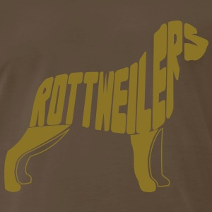 Rottweiler Dog Art T-Shirts - Men's Premium T-Shirt