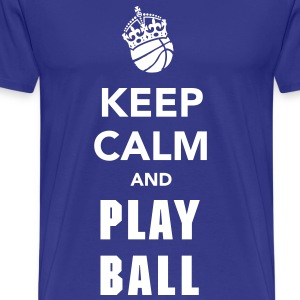 Keep Calm and Play Basketball T-Shirts - Men's Premium T-Shirt