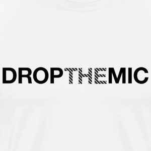 Drop the Mic Stripes T-shirt - Men's Premium T-Shirt