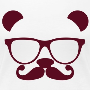 Panda with glasses and mustache Women's T-Shirts - Women's Premium T-Shirt