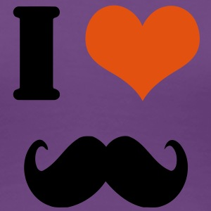 I love moustache - Women's Premium T-Shirt