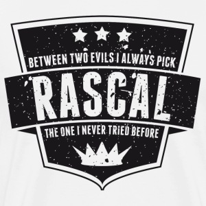 Vintage RASCAL quotes - Between two evils T-Shirts - Men's Premium T-Shirt