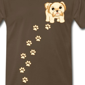 Cute Shih Tzu Puppy Dog Cartoon - Men's Premium T-Shirt