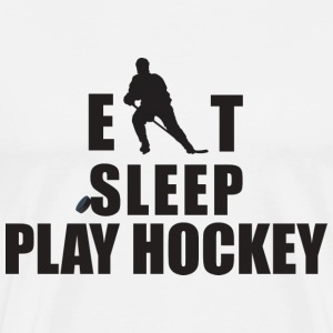 Eat Sleep Hockey T-Shirt - Men's Premium T-Shirt