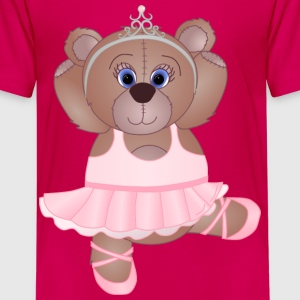 Teddy Bear Ballerina - Kids' Premium T-Shirt