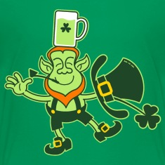 Leprechaun Balancing a Glass of Beer on his Head K