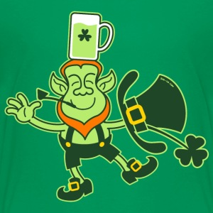 Leprechaun Balancing a Glass of Beer on his Head K - Kids' Premium T-Shirt