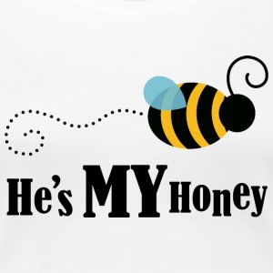 He's My Honey Couples Matching Womens T-shirt | Co - Women's Premium T-Shirt