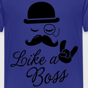 Like a meme i love cool moustache story boss shirt Kids' Shirts - Kids' Premium T-Shirt