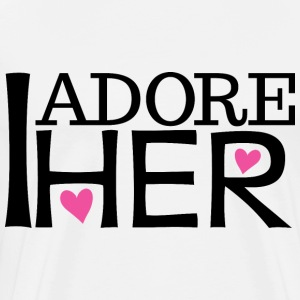 Couples I Adore Her Boyfriend Mens T-Shirt | Match - Men's Premium T-Shirt