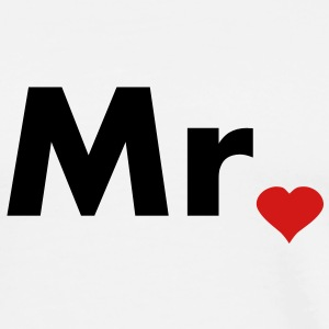 Mr with heart dot - part of Mr and Mrs set T-Shirts - Men's Premium T-Shirt