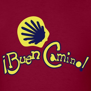 Buen Camino shell pilgrimage Men's Heavyweight T-S - Men's T-Shirt