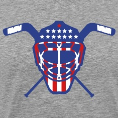 Hockey Goalie Mask Helmet USA T-Shirts