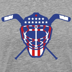 Hockey Goalie Mask Helmet USA T-Shirts - Men's Premium T-Shirt