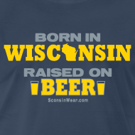 Design ~ Born in Wisconsin - Metallic Silver