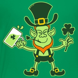 Leprechaun Drinking a Toast for St Patrick Kids' S - Kids' Premium T-Shirt