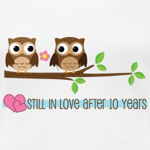 10th Anniversary Owl Womens T Shirt | Anniversary  - Women's Premium T-Shirt