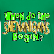 Design ~ When do the Shenanigans Begin Boys Kids St. Patrick's Day T-Shirt