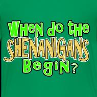 Design ~ When do the Shenanigans Begin Boys Kids St. Patrick's Day T-Shirt