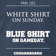 Design ~ Blue Shirt on Gameday Heavyweight T-shirt