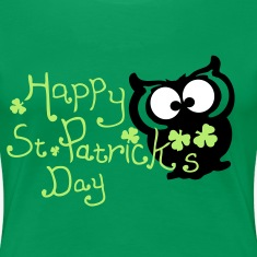 Happy St. Patrick's day owl bird Women's Plus Size