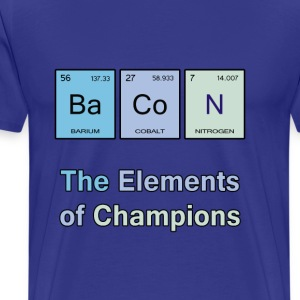 Bacon, The Elements of Champions - Men's Premium T-Shirt
