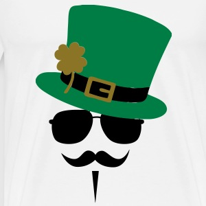 Go Green Moustache T-Shirts - Men's Premium T-Shirt