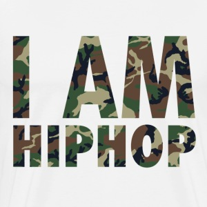 I Am Hiphop -  camo - Men's Premium T-Shirt