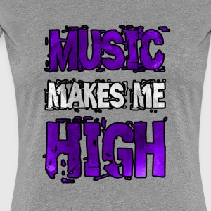music makes me high Women's T-Shirts - Women's Premium T-Shirt