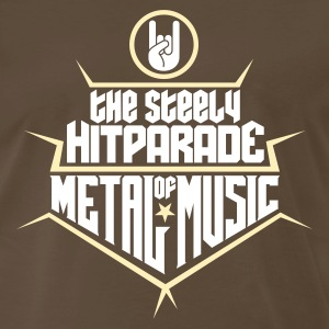 The steely Hitparade of Metal Music 2c T-Shirts - Men's Premium T-Shirt
