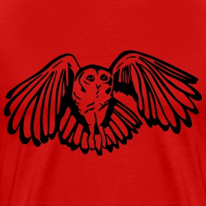 Tawny Owl Mens Standard T-shirt Red - Men's Premium T-Shirt