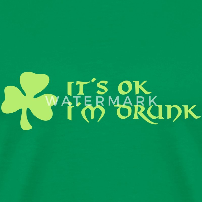 it´s ok i´m drunk T-Shirts - Men's Premium T-Shirt