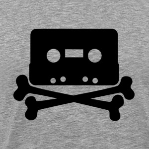 Cassette And Cross Bones - Men's Premium T-Shirt