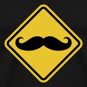 Beware of Moustaches Road Sign t-shirt - Men's Premium T-Shirt