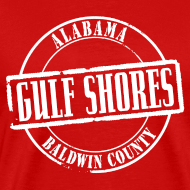 Design ~ Gulf Shores Title Heavyweight T-Shirt