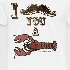 Moustache Crustacean - Men's Premium T-Shirt