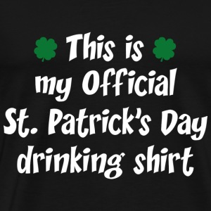 Official St. Patrick's Day Drinking Shirt - Men's Premium T-Shirt