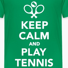 Keep calm and play Tennis Kids' Shirts