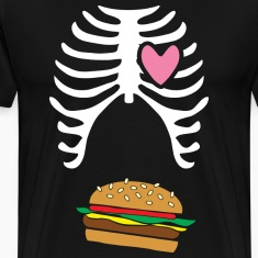 "Mens dad to be announcement t-shirt ""Burger xray c"