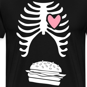 Mens dad to be announcement t-shirt Burger xray  - Men's Premium T-Shirt