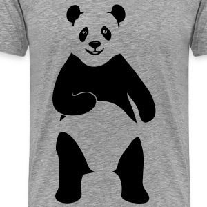 panda teddy bear face cute animal save T-Shirts - Men's Premium T-Shirt